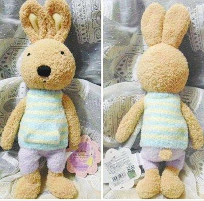 牛牛ㄉ媽*日本進口法國兔玩偶 法國兔玩偶 黃藍毛衣紫色褲子茶色兔寶寶款 現貨生日禮物民宿居家擺飾擺設