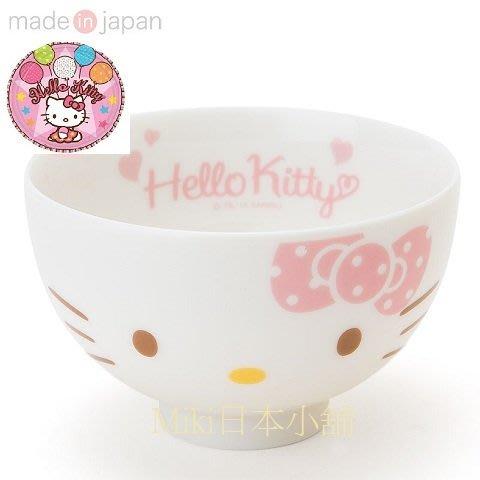 *Miki日本小舖*日本三麗鷗 Hello Kitty 美濃燒 凱蒂貓臉造型 陶瓷湯碗/飯碗/小碗