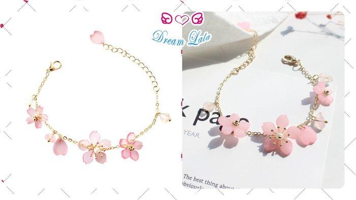 夢幻拉拉♥【現貨】日本 和風 櫻花 清新 少女 仙女 花瓣手環手鍊B00012