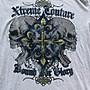 Xtreme Couture Affliction 短袖 T 恤 UFC 十字架刺青潮牌 灰色 L XL【以靡專櫃正品】