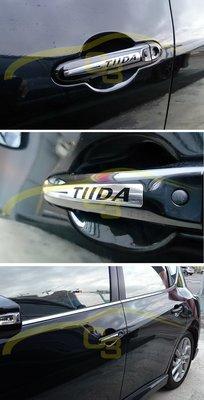 【C3車體彩繪工作室】Nissan Big Tiida 車門貼 把手貼 手把貼 貼紙 carbon 造型 貼紙 車身膠膜