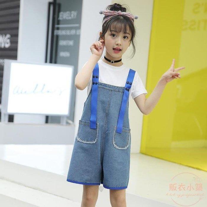 女童牛仔背帶褲春夏新款韓版中大童6-8-10-12-15歲百搭寬鬆