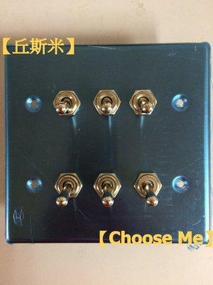【丘斯米 Choose me】工業風 復古 開關插座 不鏽鋼 六孔 上下開關 搖臂開關 MIT CE認證