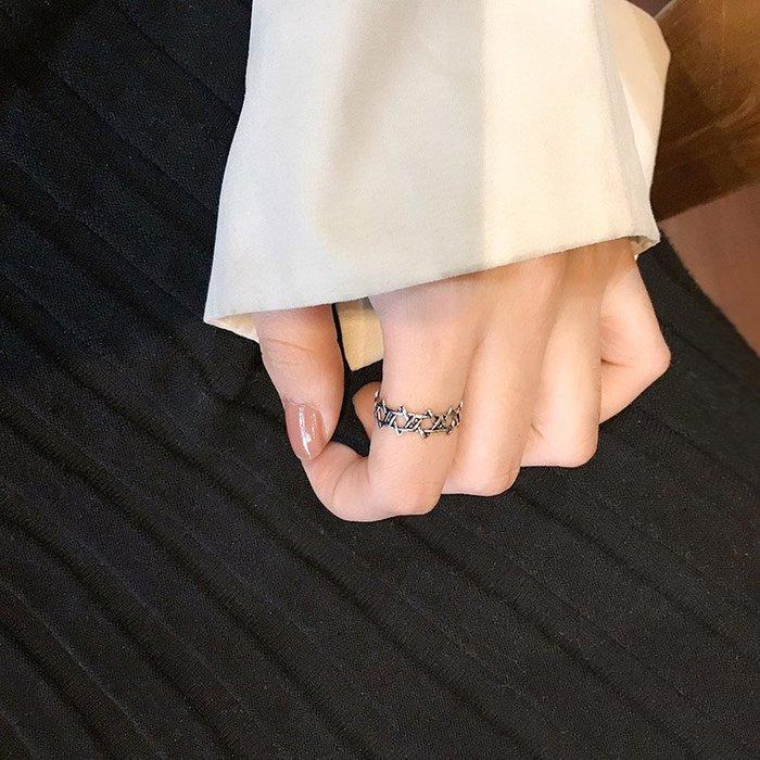 奇奇店-通體純銀復古做舊戒指小眾設計簡約時尚日韓潮人個性食指戒女#顯時尚 #簡約氣質#百搭