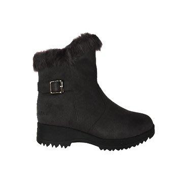 丹大戶外【ESKT】女款 開泰雪靴/雪鞋/專利冰爪/耐磨防滑鞋底 SN237 黑