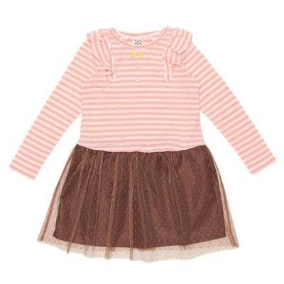 日本童裝pupil house蕾絲裙 粉紅洋裝 尺寸120cm