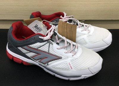好貨市集 ~英國 HI-TEC 慢跑鞋 輕量/透氣/彈力吸震/反光 男鞋 運動鞋 白/紅
