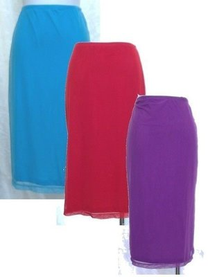 ~麗麗ㄉ大碼舖~大尺寸S(24-30吋)紅色彈性紗質及膝短裙~夏款推薦