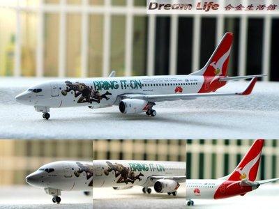 "【Gemini 精品】1/400 澳洲航空 QANTAS B737-800 ""BRING IT ON"" ~全新現貨!~"