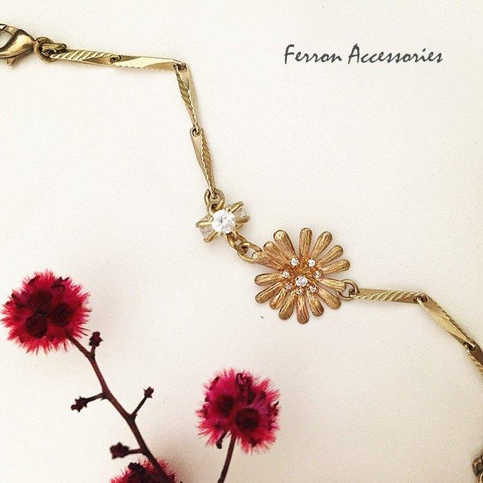 Ferron Accessories   F34  五月馨手鍊 訂製 Handmade 復古 歐美 黃銅