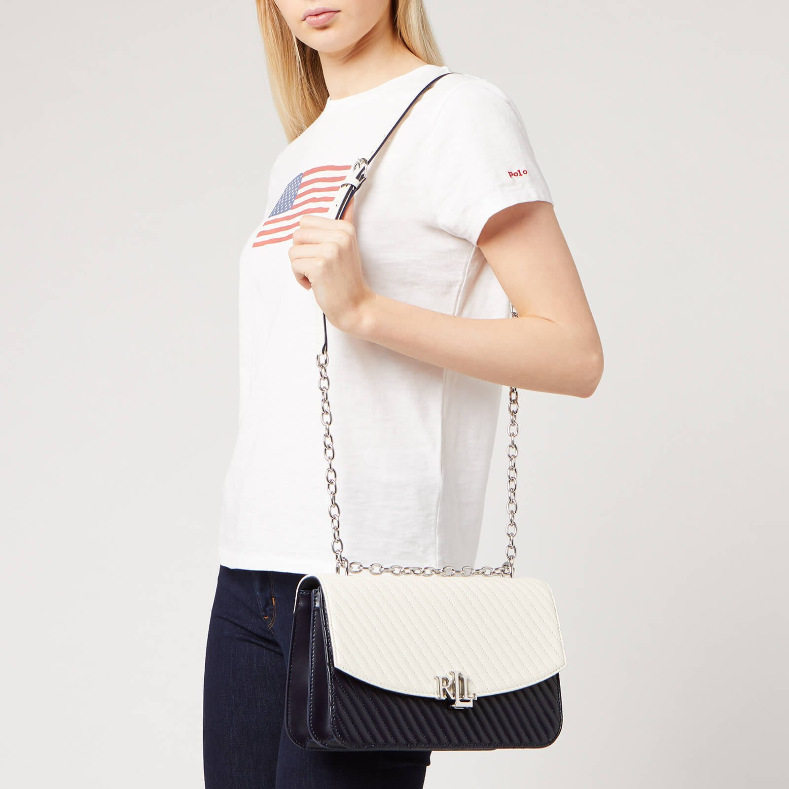 代購Lauren Ralph Lauren Madison Large 27 Cross Body Bag優雅信封包