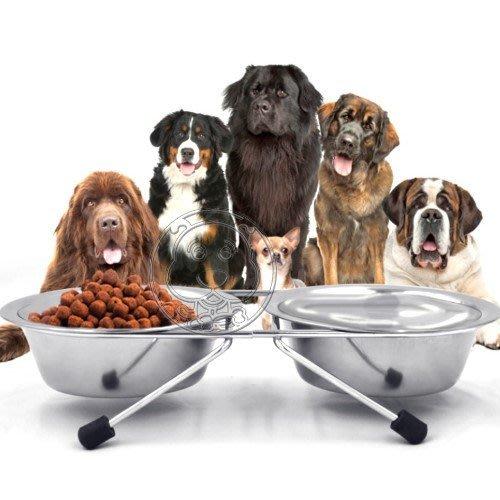 【🐱🐶培菓寵物48H出貨🐰🐹】狗體工學》Dyy寵物犬貓不銹鋼食碗雙碗附支架13cm預防脊椎側彎特價149元補貨中