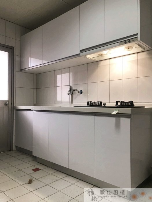 【雅格廚櫃】工廠直營~一字型廚櫃、流理台、廚具、結晶鋼烤、三星人造石檯面