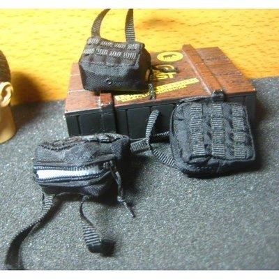 IJ6軍醫裝備 1/6精緻雙拉鍊特警型急救袋一個 黑色SWAT款