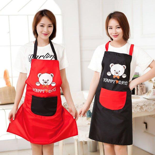 【berry_lin107營業中】圍裙韓版時尚包郵廚房罩衣成人防水可愛工作服廚師圍腰防油做飯女