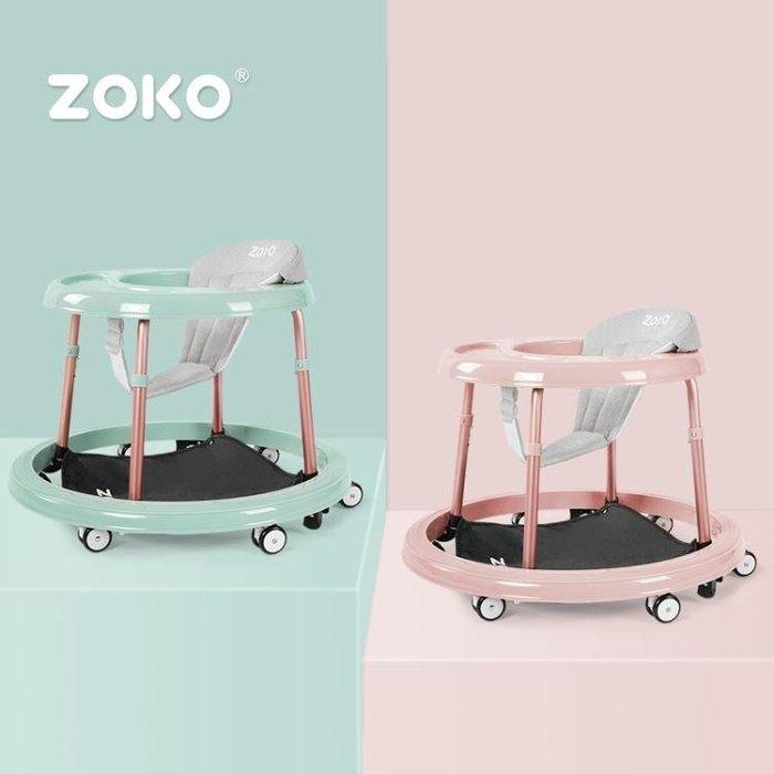 嬰兒學步車6/7-18個月寶寶學行車防側翻手推可坐多功能可摺疊禮物
