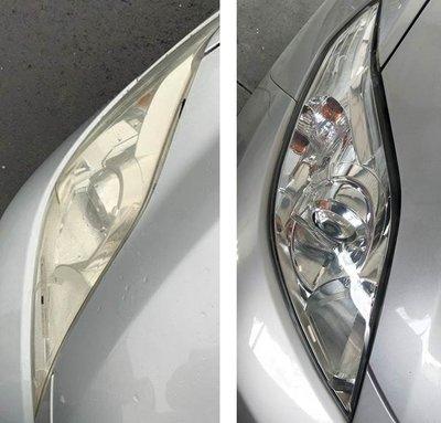 大燈快潔現場施工 Mazda 馬自達 MAZDA5 馬自達5 原廠車大燈泛黃霧化拋光修復翻新處理