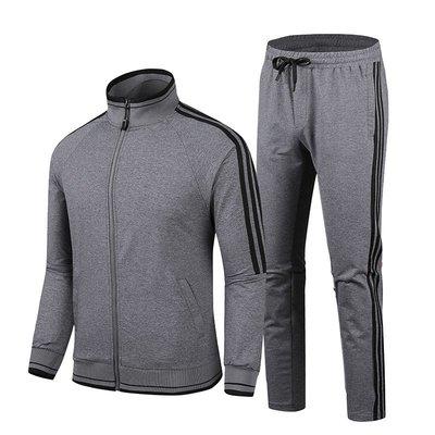 男防風外套夾克風衣2020春秋新款可定制LOGO中老年運動服爸爸裝休閑開衫外套跑步套裝