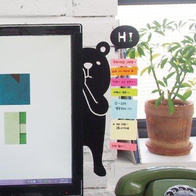 ATTIC Ξ 韓國Adorn House~ ANi Hide 躲貓貓 萌系動物 辦公桌面整理 螢幕透明留言板~ 熊
