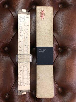早期 日本製 SUN HEMMI 竹製 計算尺 型號 NO.255D Slide Rule