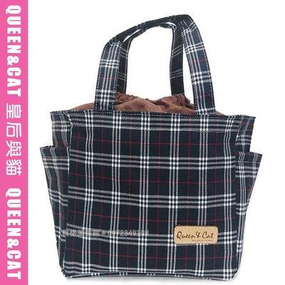 貝格美包館 束口便當包 AL 深藍英格蘭(布面) Queen&Cat 台灣製防水包 手提袋 滿額免運 現貨