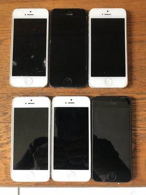 故障 iphone 5 零件機, 教學機  6 支