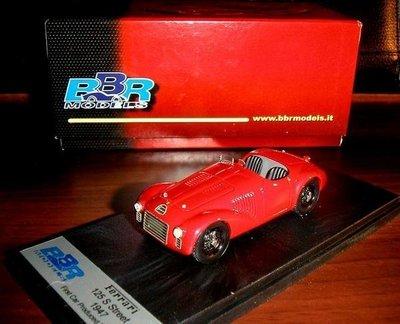 【法拉利60週年紀念】BBR稀有模型Ferrari史上第一輛車1947年125S,1947~2007年