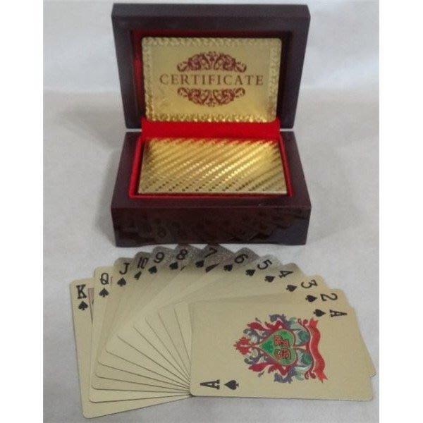 ♣現貨♣ 24K金箔撲克牌 美金撲克牌 招財撲克牌 金光閃閃撲克牌 黃金撲克牌 魔術撲克牌 盒子需另購