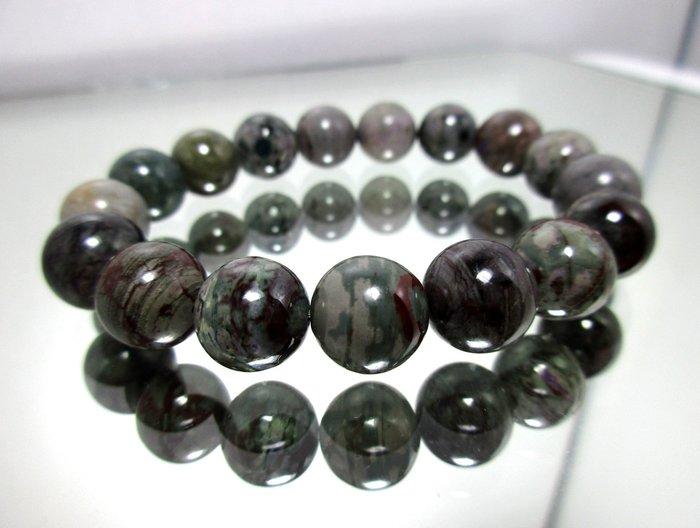 小風鈴~天然高檔特殊多彩色調舒俱徠手珠~ 淨重34.8g