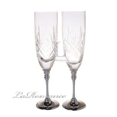 【芮洛蔓 La Romance】水晶香檳對杯組