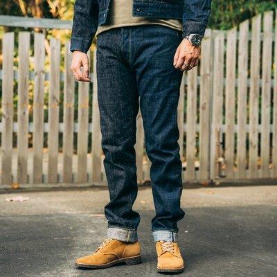 {BTO} 日本【SUGAR CANE】雙拼單寧SLIM MODEL修身牛仔褲 夏威夷藍染 琉球藍染