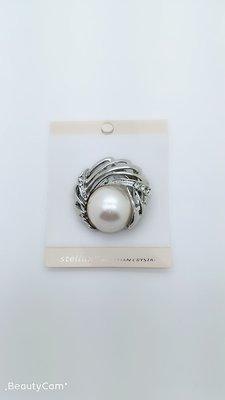 銀色 珍珠 立體 花形 星星 高貴 閃石 心口針 夾 易襯 衣服 服飾 禮物 25元一個包平郵