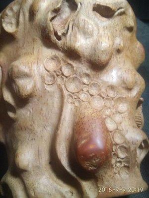 【竹雕館】~~~ 竹雕賞析 清 未盤刷的竹雕杯 有棗紅竹纖,水彩筆刷幾下即翻棗紅....和近代機械雕白身不同