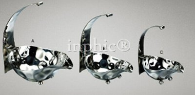 INPHIC-不鏽鋼圓形錘印盆籃麵包籃水果點心盆架自助餐酒店用品架