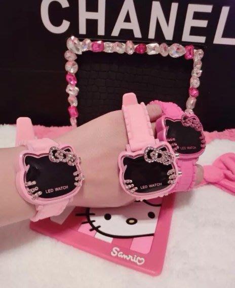 ✿荳荳小舖✿聖誕節 交換禮物 Hello Kitty浪漫凱蒂貓 ♡ 高質感鑲鑽 可愛學生女童手錶 兒童手表 生日禮物