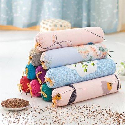 頸椎枕糖果型頸椎修復保健枕高粱殼蕎麥皮枕圓形頸椎枕頭保健枕