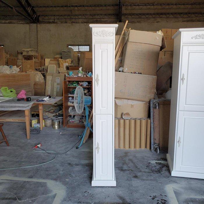 美生活館 古典風格 家具訂製 客製化 雙門 純白色 夾縫櫃 收納櫃 廚房置物櫃收納瓶罐  立體玫瑰裝飾 餐櫃