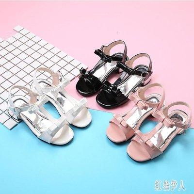 2019新款童鞋女童涼鞋兒童高跟魚嘴鞋夏季公主鞋女孩學校表演鞋子xy283【藍色彼岸】