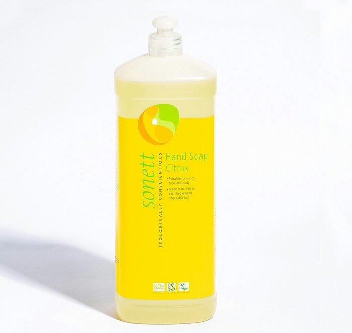 天使熊雜貨小舖~sonett律動環保柑橘洗手液   容量:1L  全新現貨