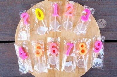 繽紛單色數字蠟燭(1/2/3/4/5/6/7/8/9/0/問號)_031-041◎單支.顏色.糖果色.數字.蠟燭.問號