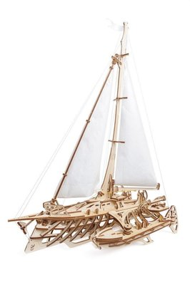 預購 Ugears 飛翔的霍爾斯號 Trimaran Merihobus 三體船 木製環保模型