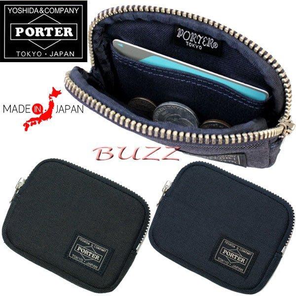 巴斯 日標PORTER屋-黑色 藍色現貨 PORTER SMOKY 信用卡夾-零錢包 592-09991