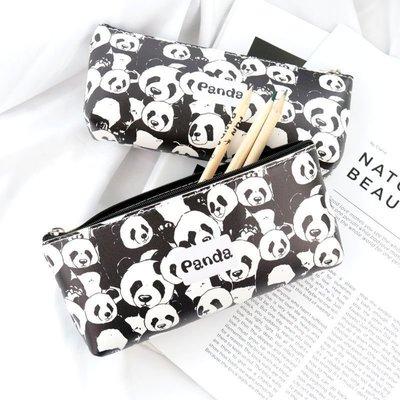 創意旅行~學生文具筆袋熊貓收納袋雜物包四川旅游紀念品文具袋鉛筆盒男女生