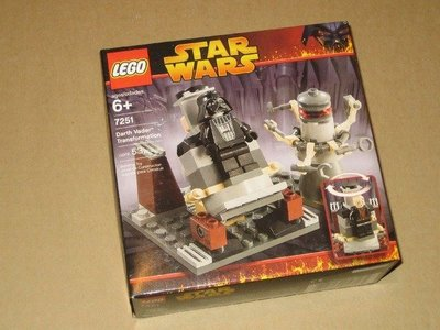 全新未開盒  Lego 7251 Darth Vader Transformation  StarWars 星戰系列 (05年出產)