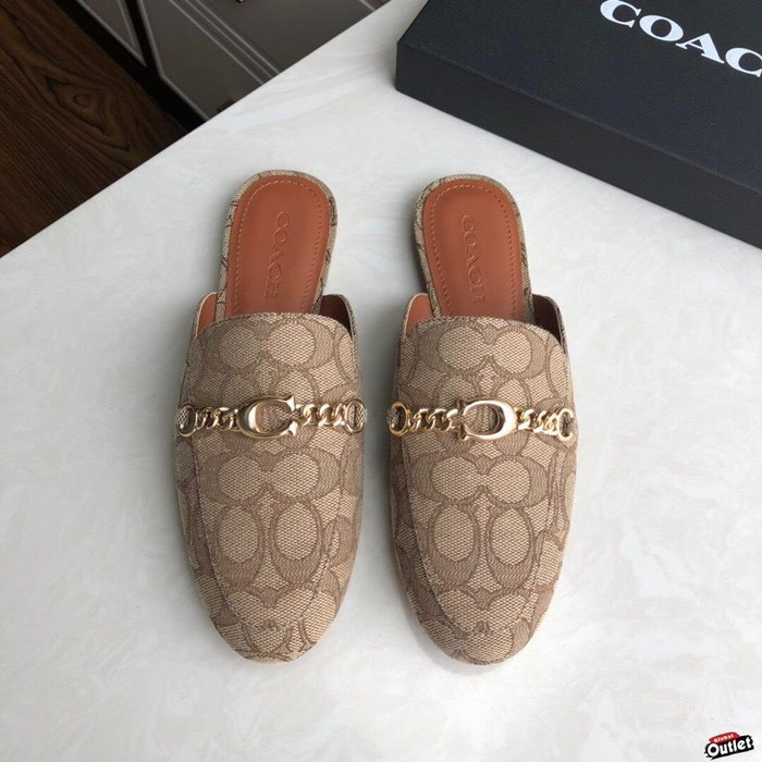 【全球購.COM】COACH 寇馳 2020新款 懶人鞋 五金屬滿版LOGO 百搭休閒鞋1  時尚精品 美國連線代購