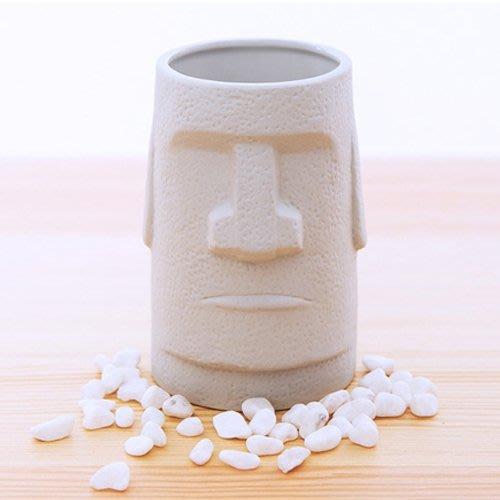 日本sunart 摩艾石像馬克杯,高11公分。復活節島 moai石像再現! 日本愛知縣藥劑師協會負責檢測