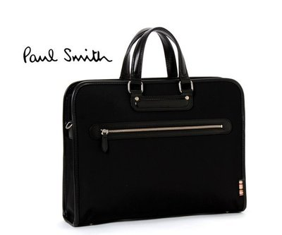 Paul Smith (黑色系)  尼龍×真皮 手提包 肩背包 公事包 100%全新正品 特價!