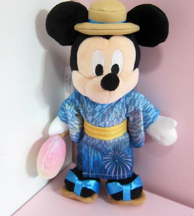 Tokyo Disney東京迪士尼七夕限定版夏季祭典花火大會浴衣和服米奇mickey大尺寸別針珠鍊吊飾包包吊飾掛飾