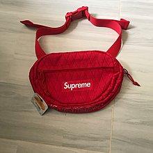 supreme waist bag red