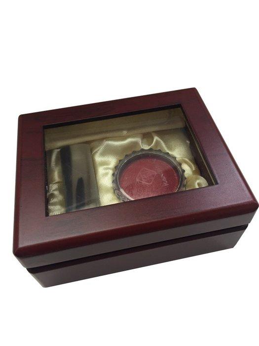 正大筆莊~【牛角印章】 臍帶/髮束印章 含盒子、印泥